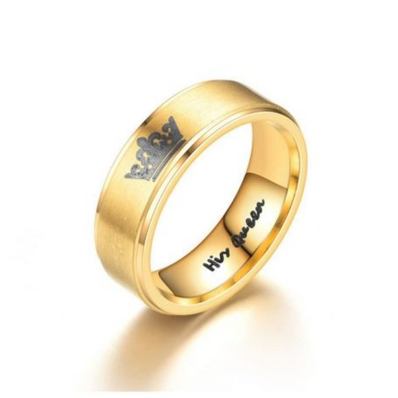 His Queen, Yellow Gold Ring
